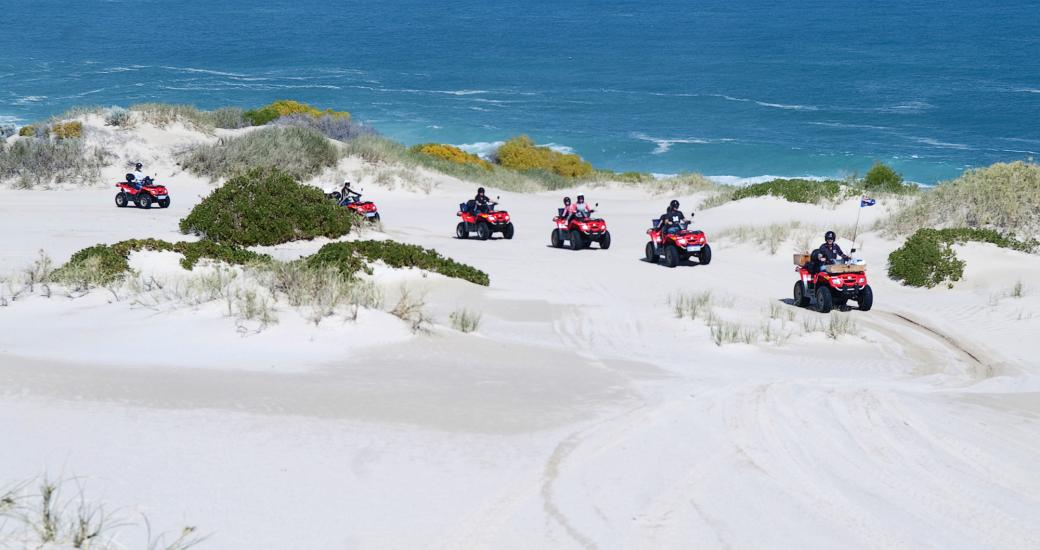 Kalbarri Wagoe Beach Quad Bike Western Australia Indian Ocean