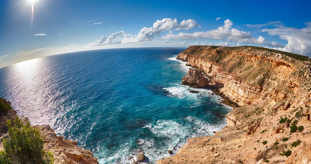 Island Rock, part of Kalbarri's Coastal Cliffs, in Western Australia