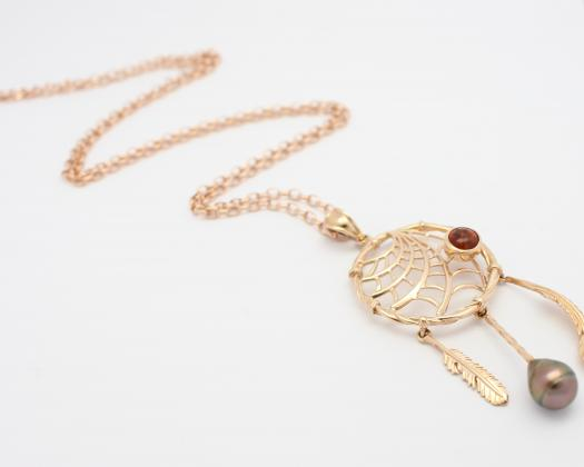 A dreamcatcher necklace by Latitude Gallery in Geraldton, Western Australia