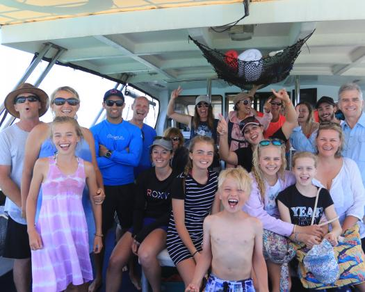 Guests on tour with Ningaloo Blue Western Australia