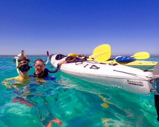 Snorkelling on tour with Exmouth Adventure Co, Western Australia