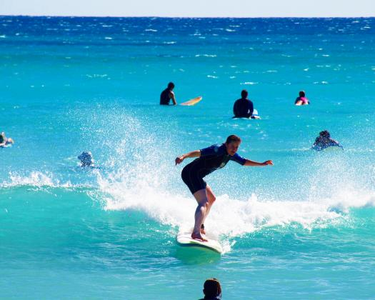 Learn to surf with Exmouth Adventure Co, Western Australia