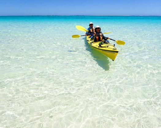 Kayaking in Turquoise Bay with Exmouth Adventure Co, Western Australia
