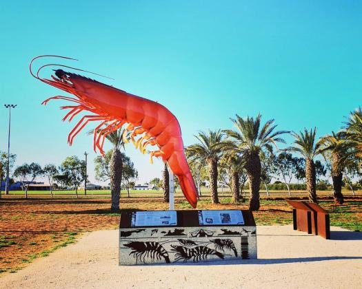 The Big Prawn statue, Exmouth, Western Australia