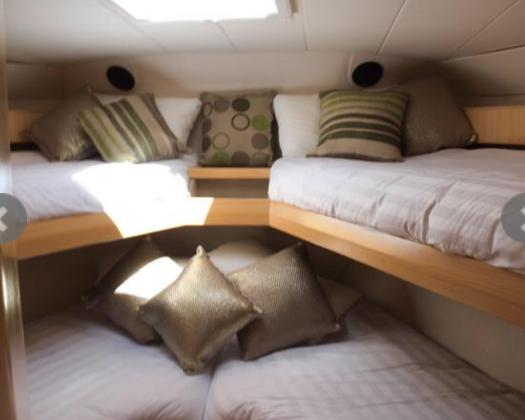Forward cabin, Evolution Fishing Charters, Exmouth, Western Australia