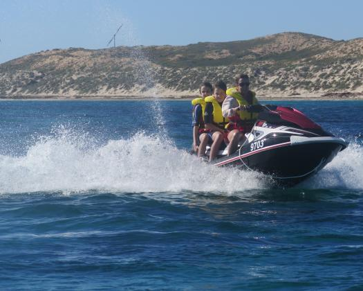 Guided jet ski tours on the World Heritage Listed Ningaloo Reef, on tour with Coral Coast Tours, Coral Bay, Western Australia