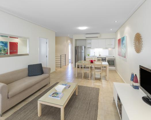 Two Bedroom Apartment Lounge / Dining / Kitchen, Nesuto Geraldton Apartment Hotel, Geraldton, Western Australia