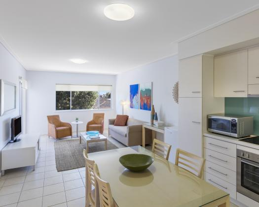Three Bedroom Apartment Lounge / Dining / Kitchen, Nesuto Geraldton Apartment Hotel, Geraldton, Western Australia
