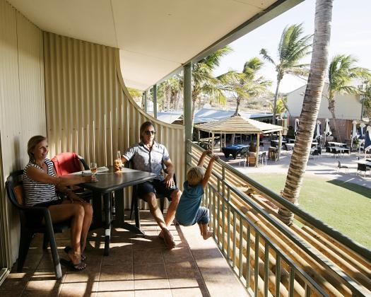 Relax on your balcony, Ningaloo Reef Resort, Coral Bay, Western Australia