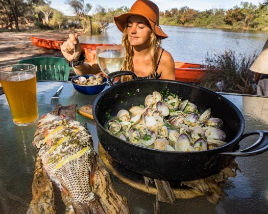 Delicious locally sourced seafood, Murchison Experience, Kalbarri, Western Australia