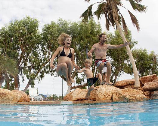 Family time, RAC Exmouth Cape Holiday Park, Exmouth, Western Australia