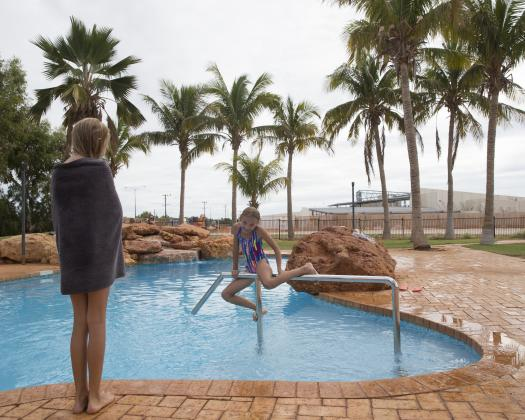 Lagoon style swimming pool, RAC Exmouth Cape Holiday Park, Exmouth, Western Australia