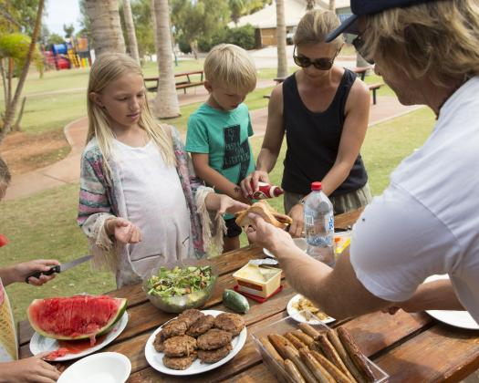 Camp kitchen & BBQ Facilities, RAC Exmouth Cape Holiday Park, Exmouth, Western Australia