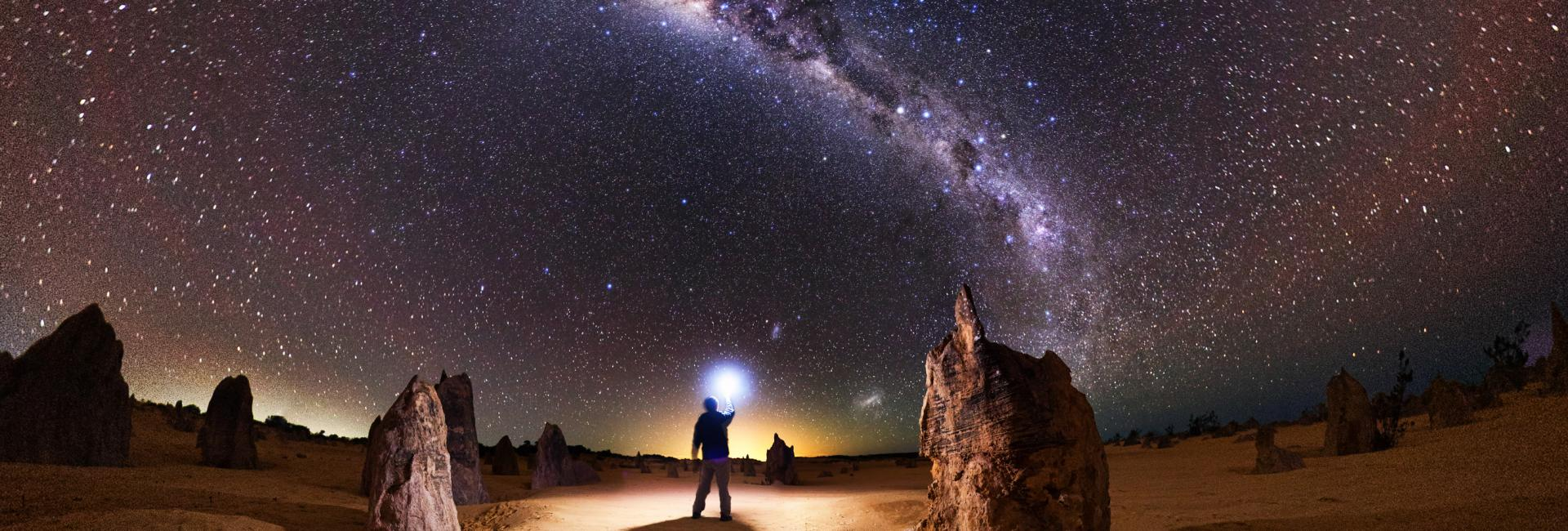 The Milky Way above the Pinnacles Desert Western Australia