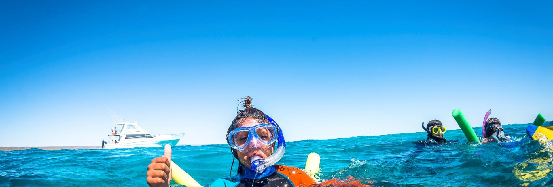 Ningaloo Discovery child snorkel