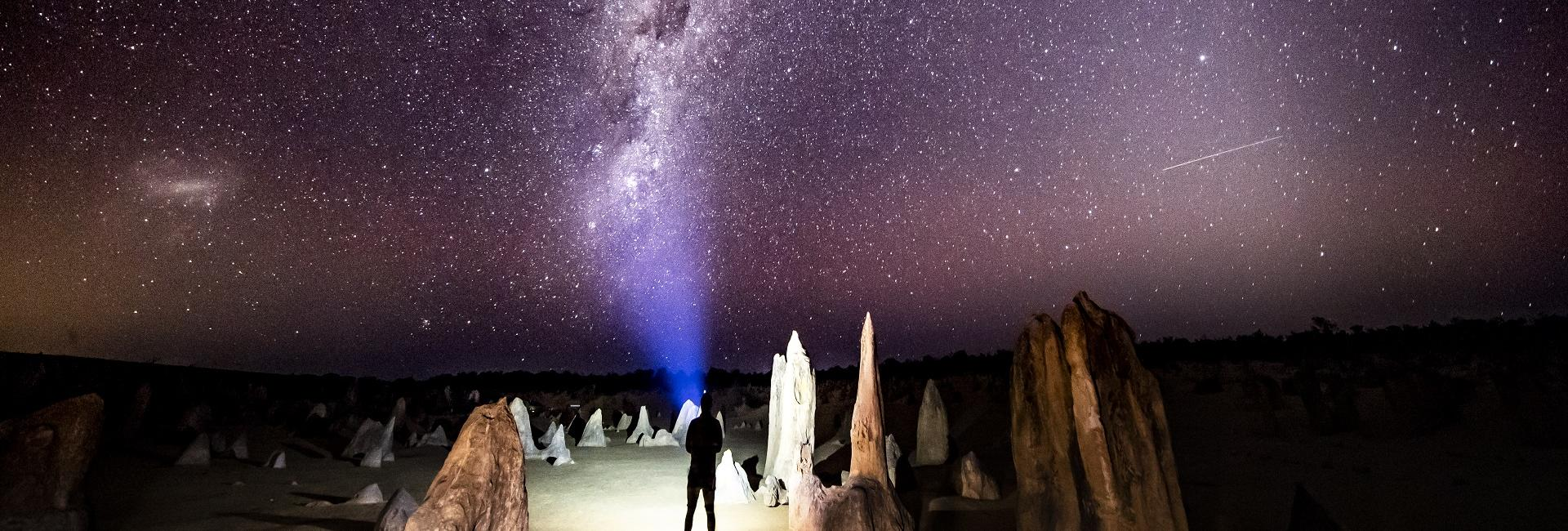 Stargazing at the Pinnacles, Nambung National Park, Cervantes