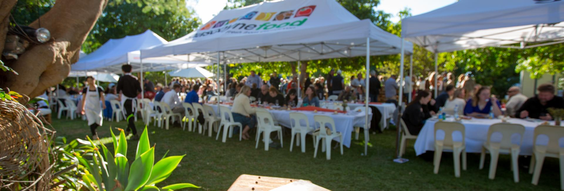 Long table lunch at the Gascoyne Food Festival, Carnarvon