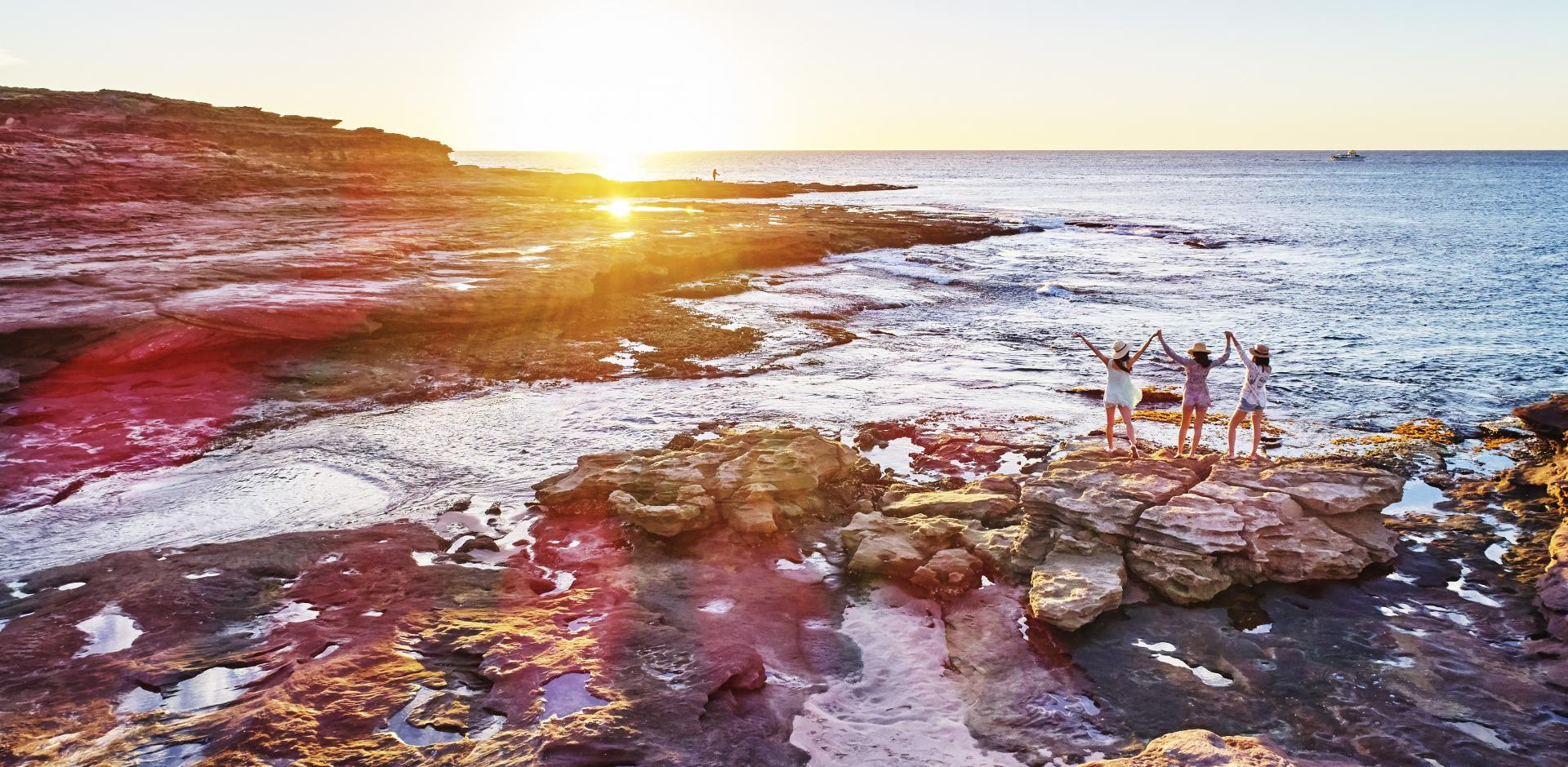 Sunset at Kalbarri's Coastal Cliffs, Kalbarri, Western Australia