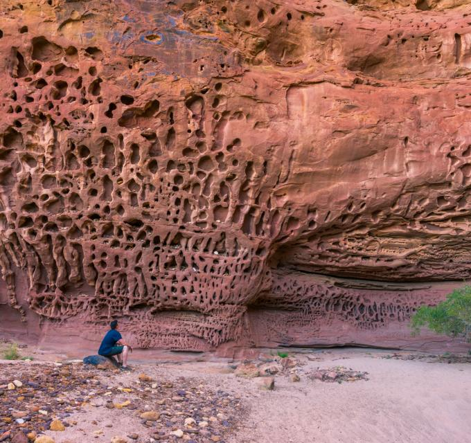 A photo of Honeycomb Gorge in Kennedy Range National Park, inland from Carnarvon, Western Australia