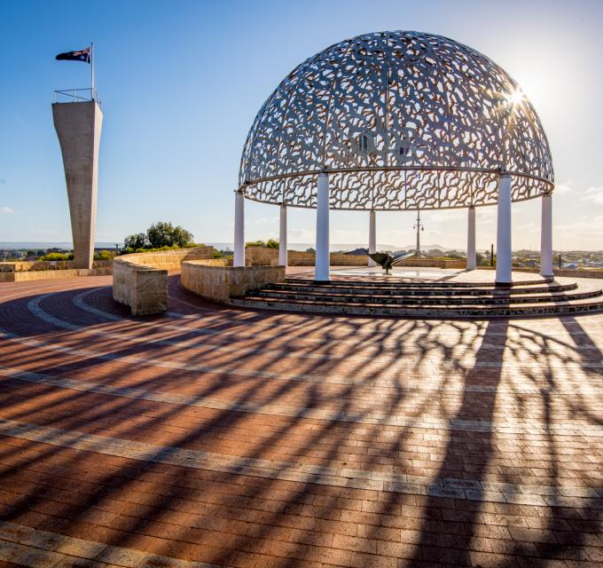 The HMAS Sydney II Memorial in Geraldton, Western Australia