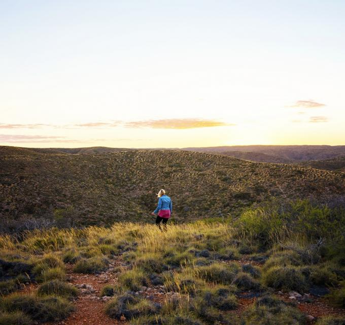 A sunrise walk through Mandu Mandu Gorge in Cape Range National Park, near Exmouth, Western Australia. Image by Lauren Bath