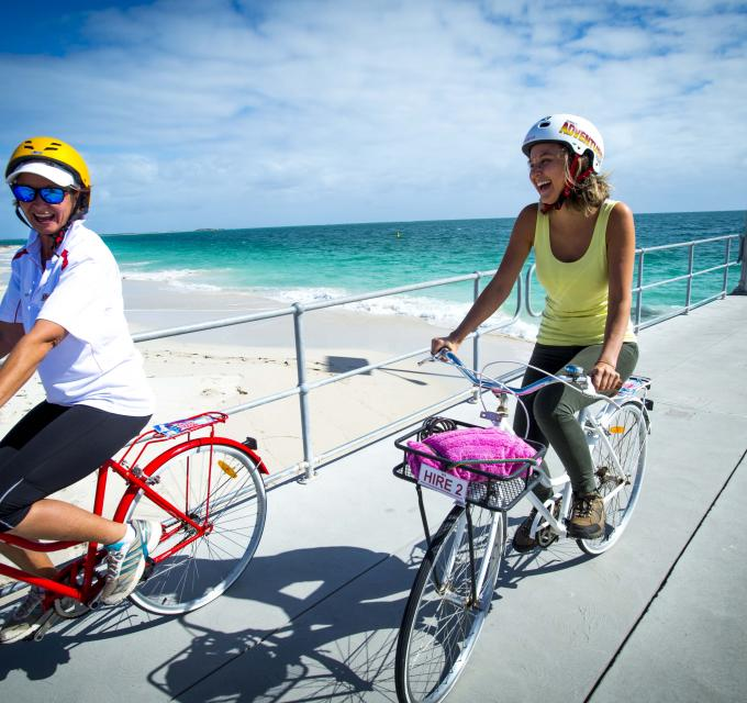 Cycling in Jurien Bay, Western Australia