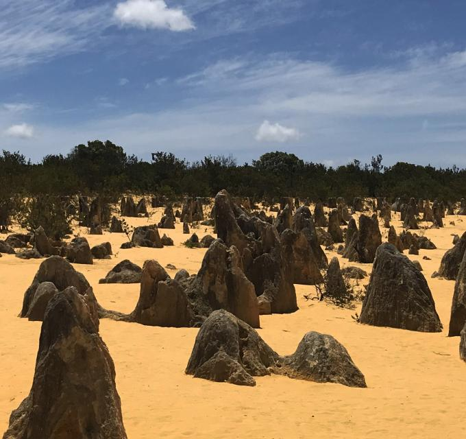 Cycling the Pinnacles Desert of Nambung National Park Western Australia