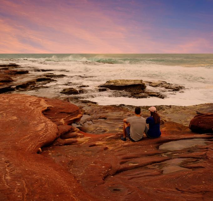 Kalbarri Coastal Cliff Mushroom Rock Walk Couple