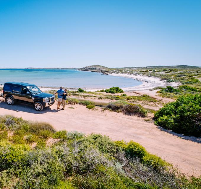 Shark Bay car beach Western Australia road trip holiday