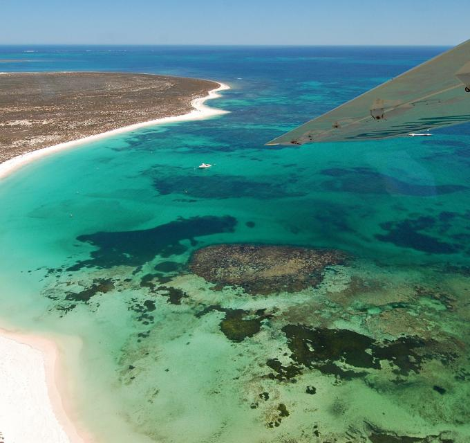 Aerial Abrolhos Islands Scenic Flight Western Australia