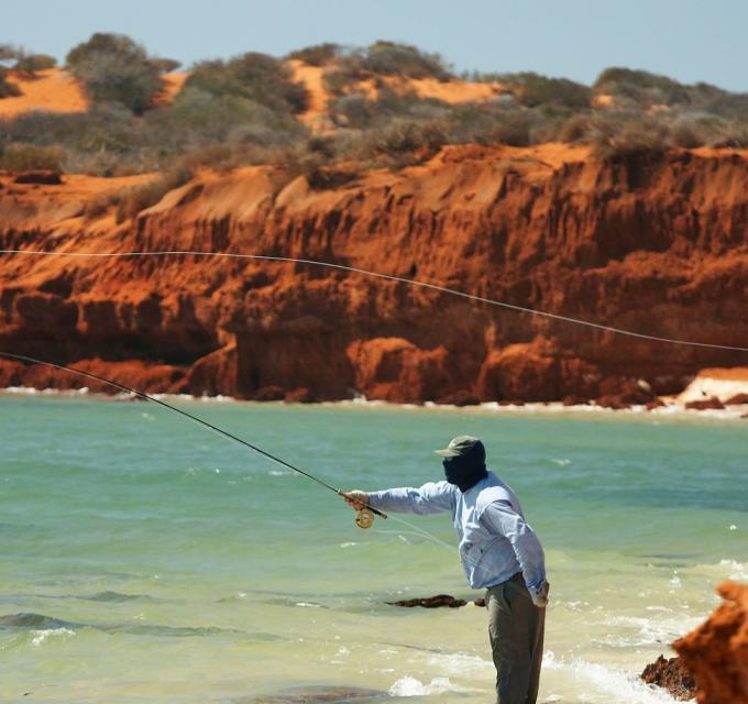 Beach Fishing at Bottle Bay, Shark Bay Western Australia