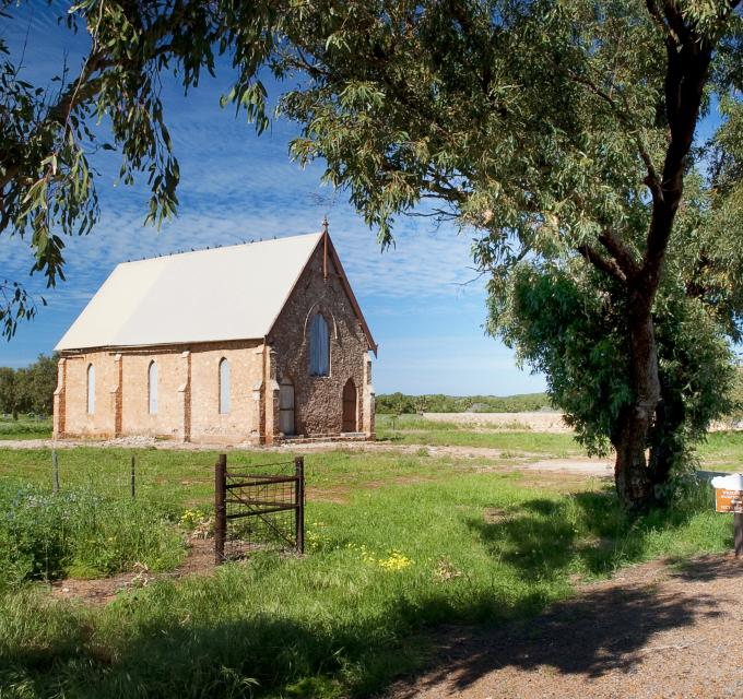 Wesley Church in Greenough, near Geraldton, Western Australia