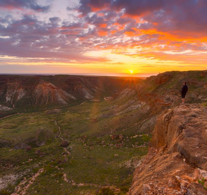 Sunrise over Cape Range National Park, Exmouth, Ningaloo, Western Australia