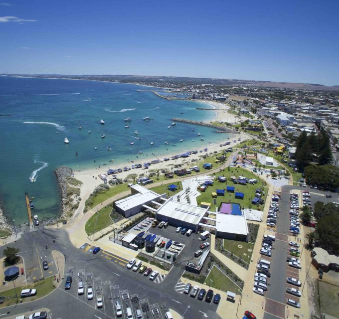 Aerial view of Geraldton Foreshore