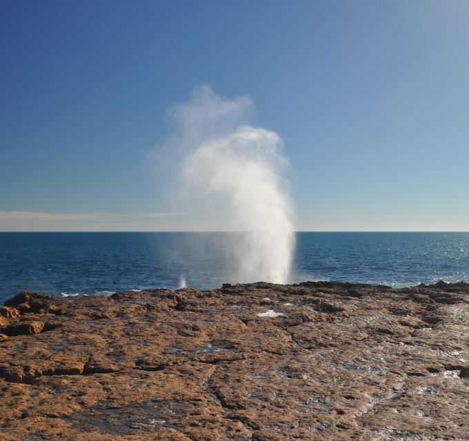 Quobba Blowholes north of Carnarvon, Western Australia